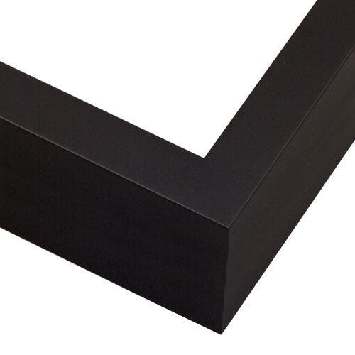 Modern Black Picture Frame with Squared Profile SP2
