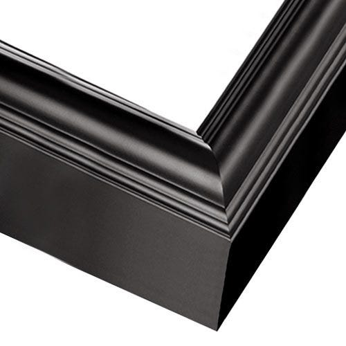Modern Black Wood Picture Frame With Rounded Profile and Satin Finish SP8