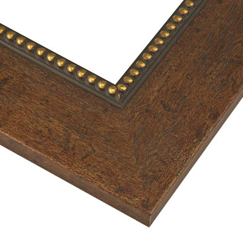 Walnut Picture Frame with Antiqued Finish and Gold Beading VN8
