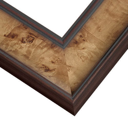 Toffee Picture Frame with Raised Rounded Edges and Wide Profile WVL2