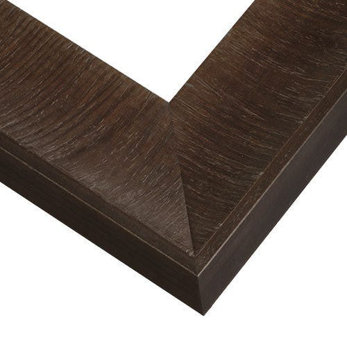 Dark Brown Wood Picture Frame with Wide Scooped Profile WVL5