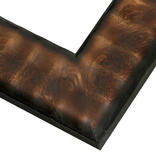 Unique Brown Wood Frame with Earthy Tone and Raised Texture WX422.