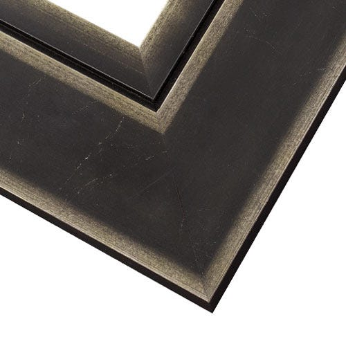 Antiqued Black Wood Frame with Silver Accents WX540.