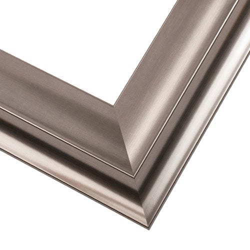 Contemporary Silver Wood Picture Frame with Shiny Finish WX551.