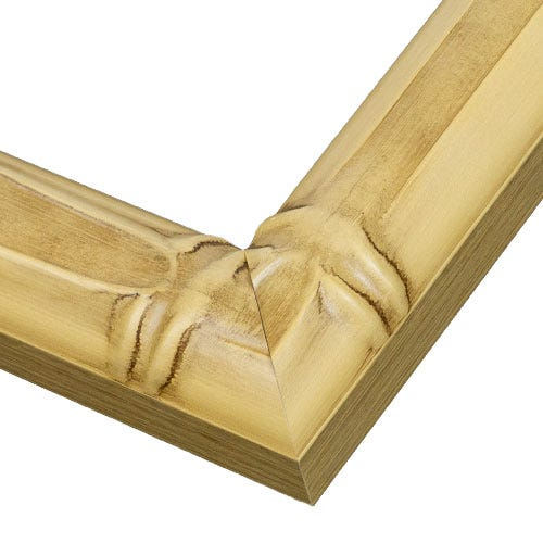 Wood Frame with Bamboo Design and Brushed Accents WX559