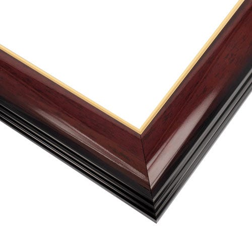 Lacquered Cherry and Gold Wood Picture Frame WX575.