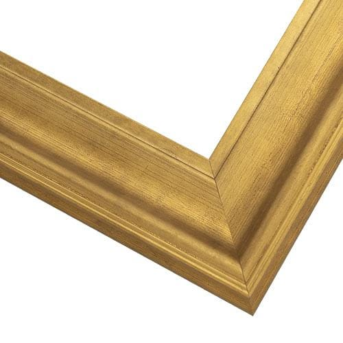 Brushed Gold Wood Picture Frame with Scooped Profile WX577