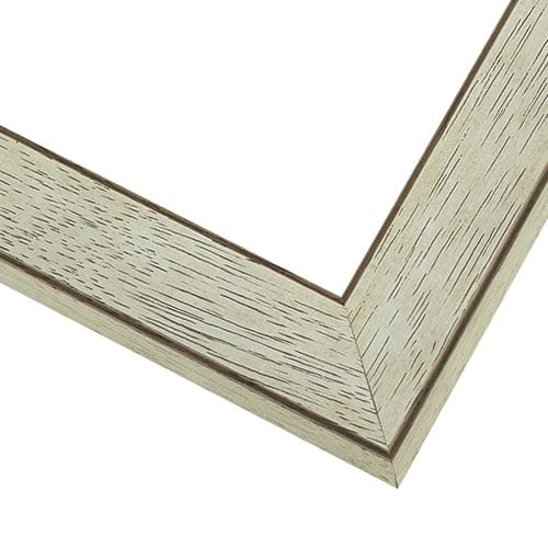 Rustic Whitewash Wood Frame With Flat, Squared Profile WX578