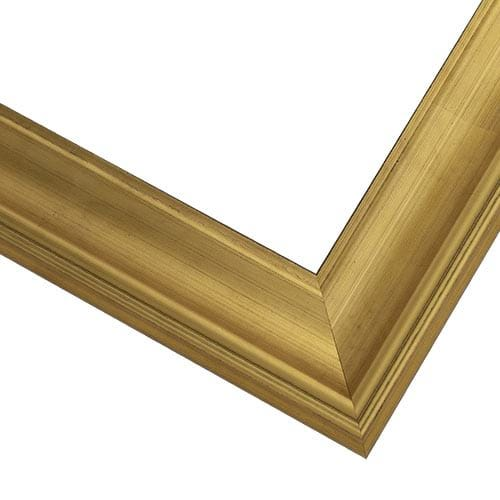 Brushed Gold Picture Frame With Scooped Profile WX588