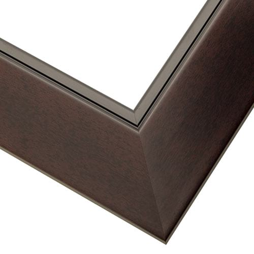 Black Cherry Wood Picture Frame with Angled Profile WX593