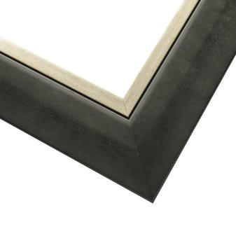 Sloped Black With Silver Wood Picture Frame WX607