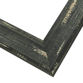 Wide Distressed Black Wood Picture Frame WX608