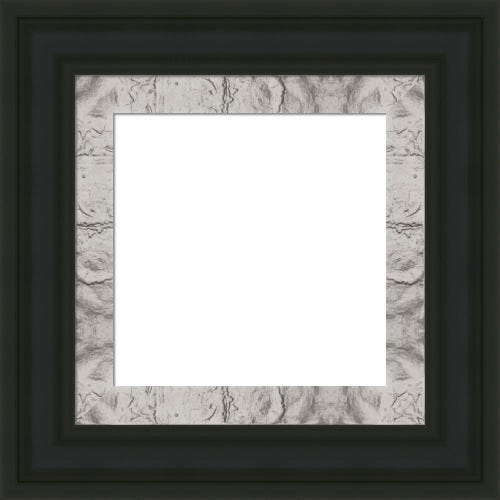 Classic Black Picture Frame With Textured SIlver Liner Abigail