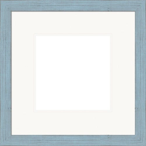 Modern Light Blue Picture Frame WIth White Mat Alice
