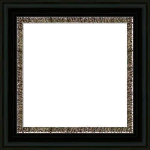 Classic Black Picture Frame With Textured Silver Liner Aria