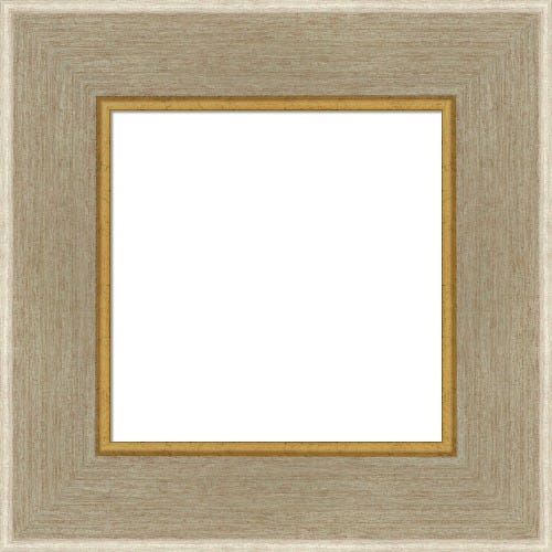 Modern Silver Picture Frame With Gold Inner Lip Ariel