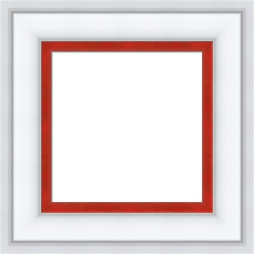 Classic White Picture Frame With Red Liner Arlene