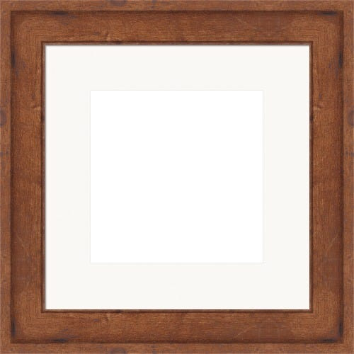 Rustic Brown Picture Frame With White Mat Beckett