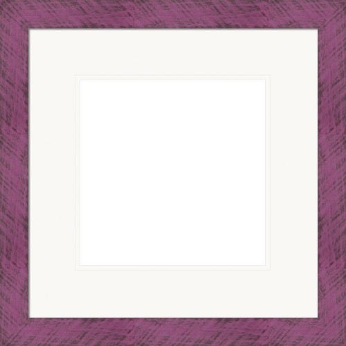 Bold Plum Picture Frame With Distressed Finish And White Mat Berenstain