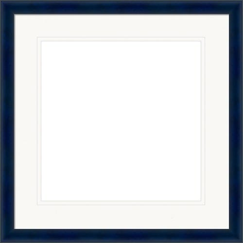 Deep Blue Picture Frame With White Mat Bianca