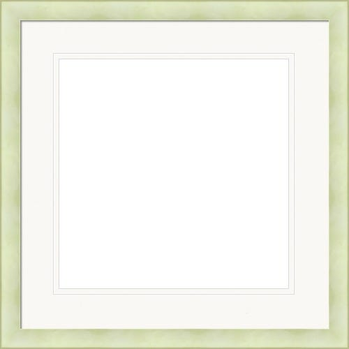 Modern Lime Green Picture Frame WIth Double White Mat Billie