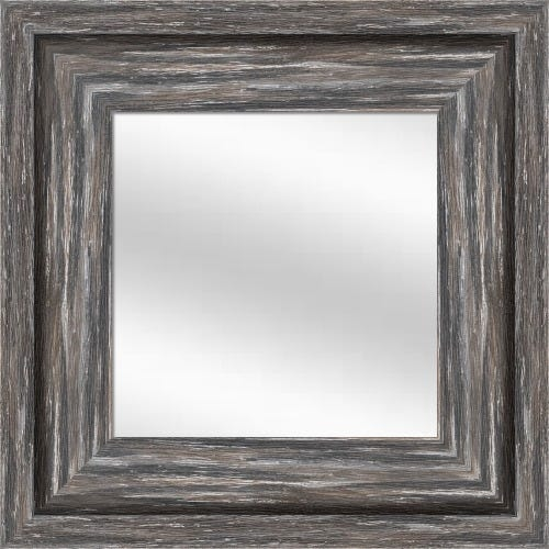 Gray Weathered Framed Mirror