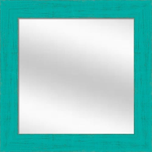 French Teal Framed Mirror