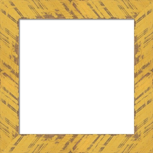 Rustic Marigold Picture Frame Distressed FInish Buttercup