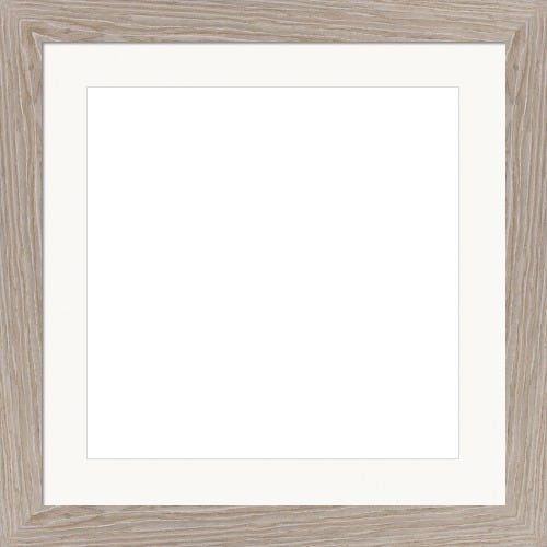 Modern Brown Picture Frame With White Mat Calypso