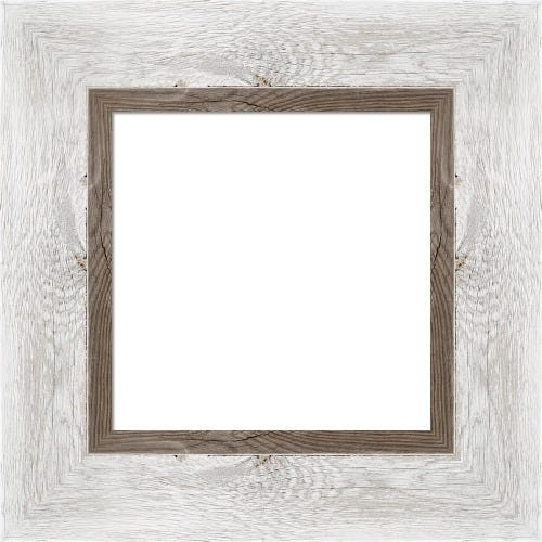 Rustic Whitewash Frame With Inner Driftwood Edge Camus