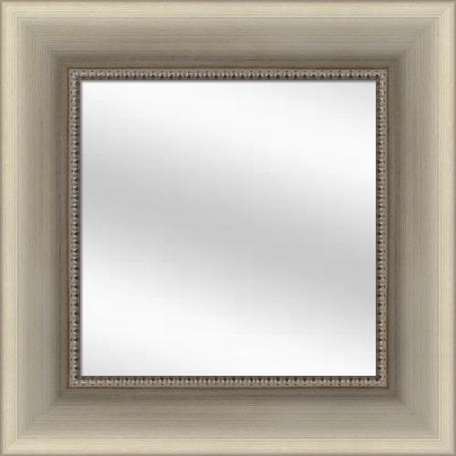 Beaded Silver Framed Mirror