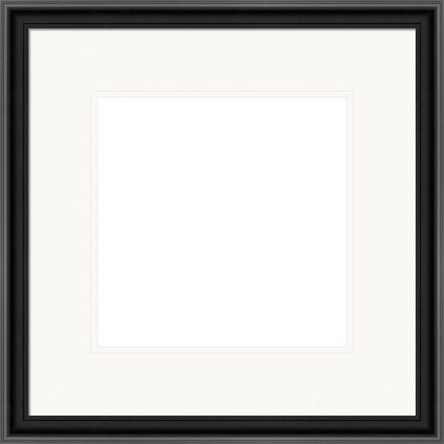 Classic Black Satin Picture Frame With Double White Mat Chanel
