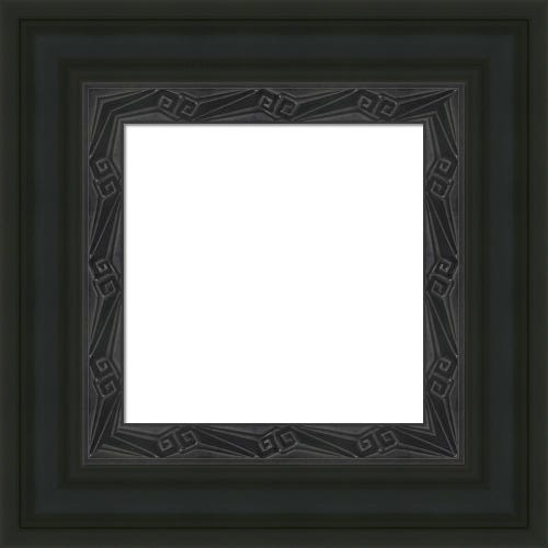 Rich Black Picture Frame With Art Deco Inner Liner Cleo