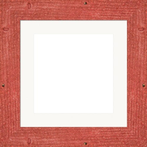 Rustic Red Barnwood Frame With White Mat Cooper
