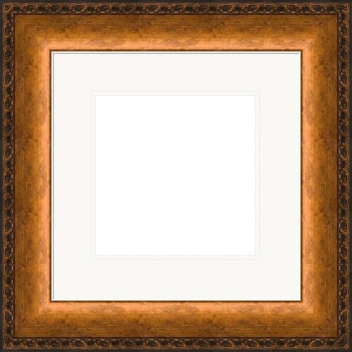 Shimmering Copper Picture Frame With White Mat Cornell