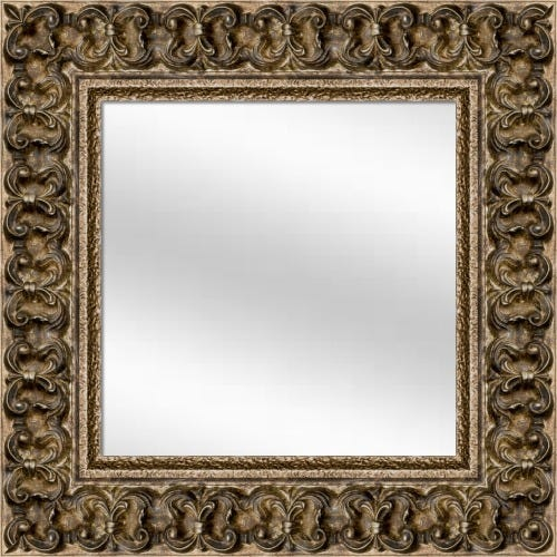 Antique Champagne Framed Mirror