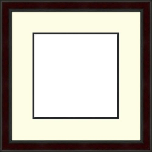 Rich Mahogany Picture Frame With Contrast Double Mat Cunningham