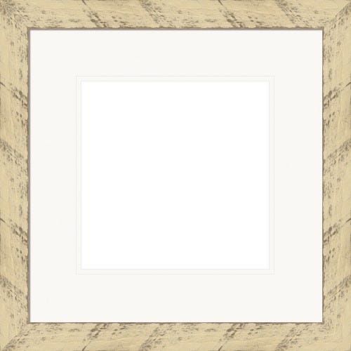 Rustic Buttermilk Picture Frame With White Mat Curie