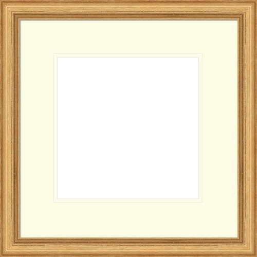 Classic Brushed Gold Picture Frame With Warm White Mat Darcy