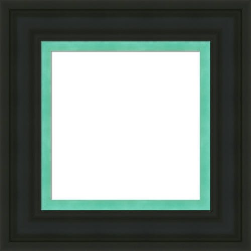 Classic Black Picture Frame With Teal Inner Liner Diana