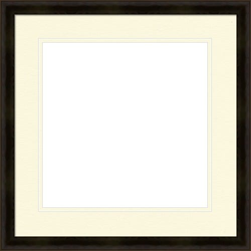 Thin Black Picture Frame WIth Double White Mat Elsie