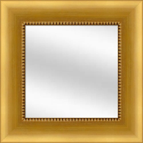 Brushed Gold Framed Mirror