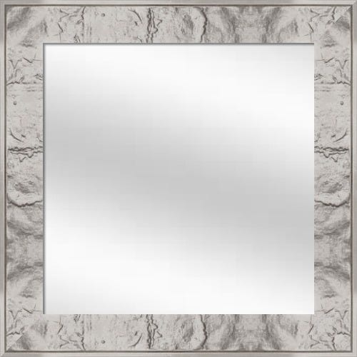 JBB2 Ornate Bright Silver Leaf Mirror