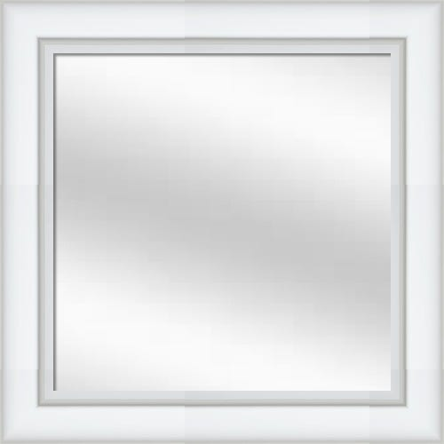 White Lacquer Framed Mirror