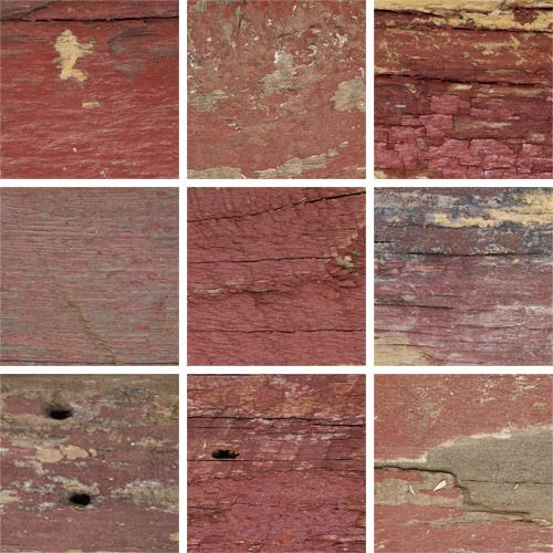 Rustic Red Picture Frame With Natural Weathering And Fresh-Sawn Sides KBM6 Image Swatches