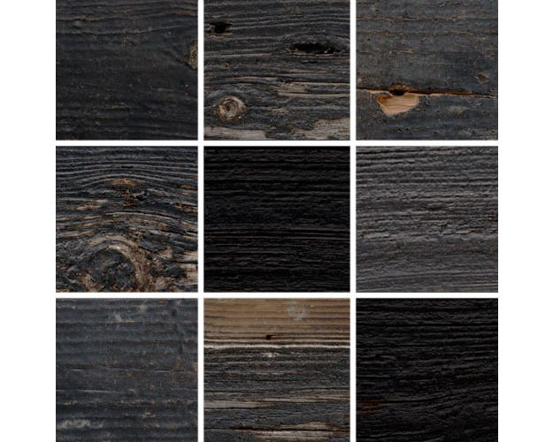 Rustic Black Reclaimed Barnwood Picture Frame With Natural Weathering KBL4 Image Swatches