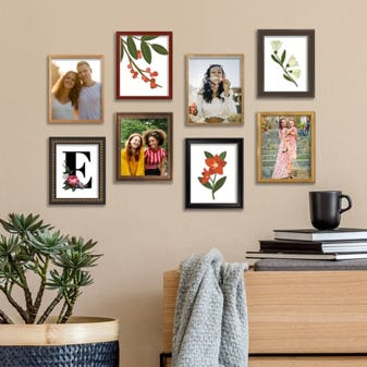 Mixed 4 x 6 Frame Pack Gallery Wall Set 8 Frames