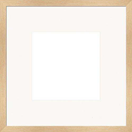 Classic Maple Picture Frame With White Mat Vivian
