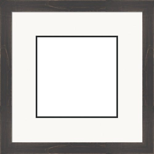 Classic Somly Black Picture Frame With White Top Mat and Black Bottom Mat Wesley