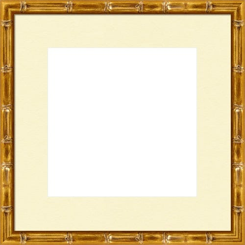 Gold Picture Frame With Bamboo Motif Sooki